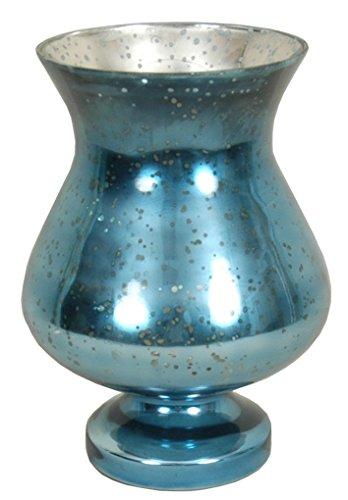 Blue Pedestal Vases (India House Pedestal Mercury Glass Vase, 11