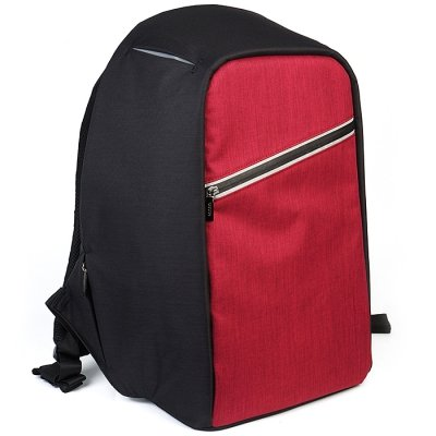 Mochila de Transporte para Ordenador Portátil, Hombre o Mujer Mochila Bolsa Bandolera/Maletin/Backpack de 15 Pulgadas Impermeable Netbook para Universidad/Negocios/Trabajo (15 inches, Negro) ROJO