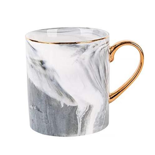 Marble Coffee Mug Elegant Ceramic Mug Toshine Creative Coffee Mug for Breakfast Milk for Men Women 14 oz - Marble Coffee Mug
