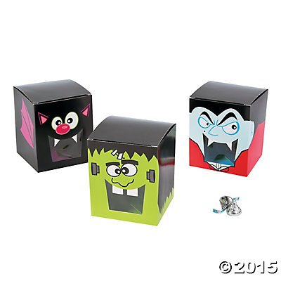 Halloween Party Favor Character Treat Boxes - 12 (List Of Halloween Characters)