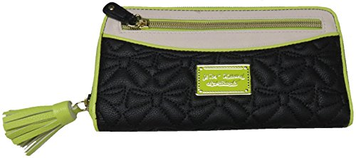 Betsey Johnson Tassel Zip Wallet Quilted Bows Bb16530