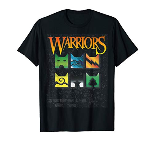 (Warrior Cats Clan Icons T-Shirt - boy and girls book readers)