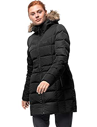 Jack Wolfskin Women's Baffin Island Windproof Down Puffer Jacket, Black, X-Small