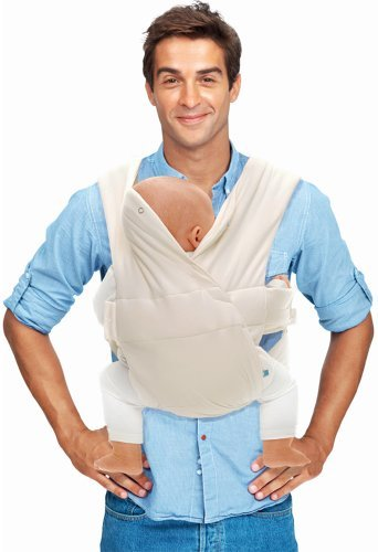 Wallaboo Infant Baby Carrier Cross, Front Carrier for Newborn, 100% Cotton, Ergonomic and easy to use, Ecru by Wallaboo