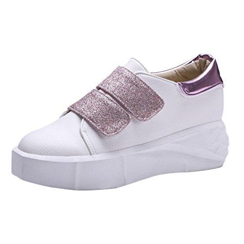 Sneaker Pumps Moda TAOFFEN Piatta Donna Rosa 8tBWqOw