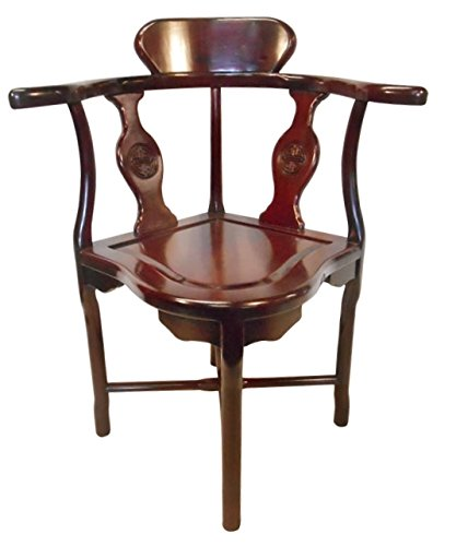 Rosewood Oriental Corner Chair Hand Carved Bird And Flower (Long Life Carved )
