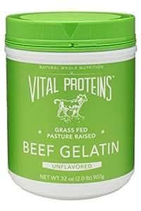 Vital Proteins Collagen Protein, Pasture-Raised, Grass-Fed, Non-GMO, Beef Gelatin (32 oz)