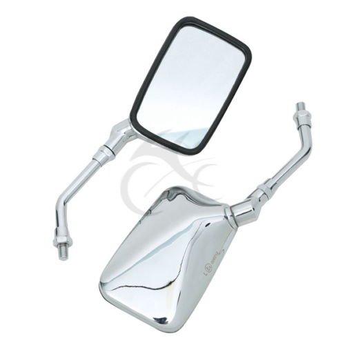 TengChang Motocicletta 10 millimetri rettangolo specchietti retrovisori per Honda Kawasaki Suzuki Yamaha Cruiser Custom