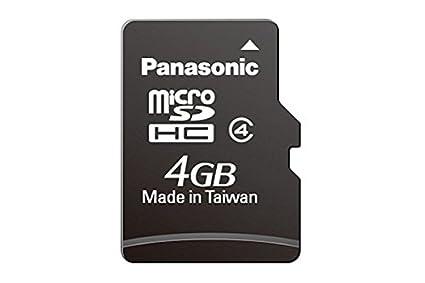 Panasonic RP-SMFB04GAK - Tarjeta de Memoria Micro SDHC de 4 ...