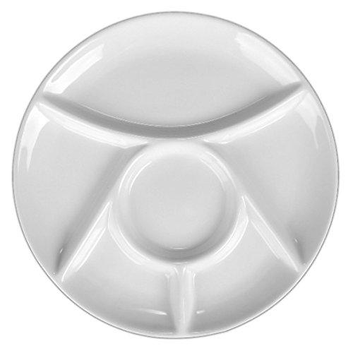 Holst Porzellan MP 300 Fondueteller 23 cm weiß, 23.5 x 23.5 x 2 cm