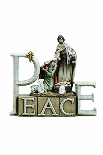 - Peace Holy Family Nativity 9 x 8 Inch Resin Tabletop Nativity Scene Figurine