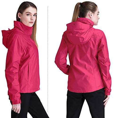 3919df424 Outdoor Recreation CAMEL CROWN Womens Rain Jacket Waterproof Coat ...
