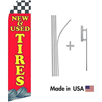 Pack of 3 Body Shop Open King Swooper Feather Flag Sign Kit with Pole and Ground Spike auto tinting