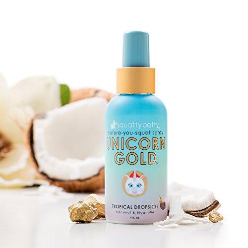 4 FL OZ. Squatty Potty Unicorn Gold Toilet Spray, Tropical Dropsicle4