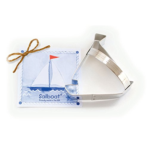 - Sailboat Cookie and Fondant Cutter - Ann Clark - 4.3 Inches - US Tin Plated Steel