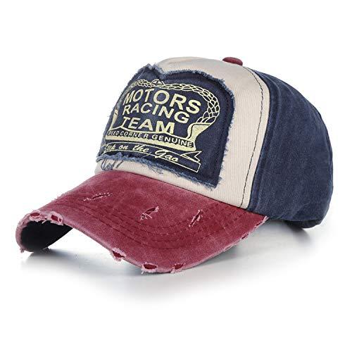 夜明けに道徳教育現実的帽子 カジュアルキャップ 5パネルヒップホップウォッシュキャップ ユニセックス,ローズレッド,56?60cm