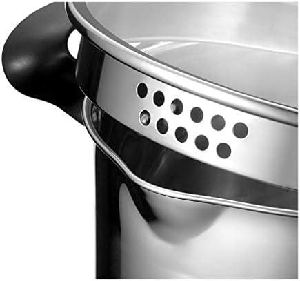 LINGZHIGAN 20CM Pot À Soupe En Acier Inoxydable Double Fond Pot À Soupe Cuisinière À Induction Universel Pot Soupe Pot Peut Stand 304 De Qualité Alimentaire En Acier Inoxydable