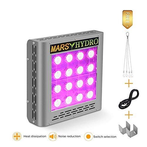MARS HYDRO 300W 600W 900W 1200W 1600W LED Grow Light Full Spectrum for Hydroponic Indoor Plants Growing Veg and Flower …