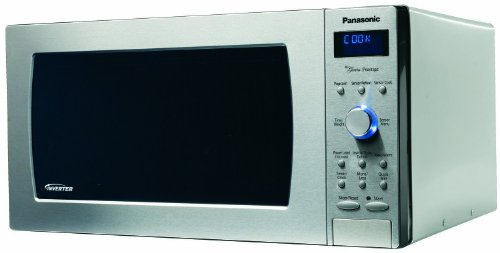 Panasonic NN-SD997S 1250-Watt Sensor Microwave with Inverter Technology & Blue Readout, Stainless Steel