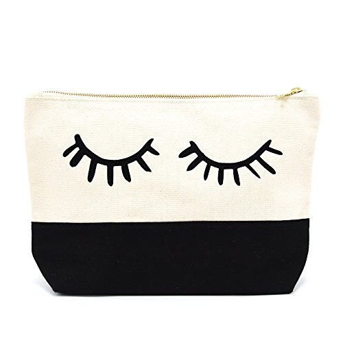 """PumPumpz - Extra Large Canvas Travel Ykk Zipper Makeup Cosmetic Bag. """"Which arrive you within 5 days"""""""