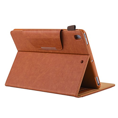 iPad mini 1/2/3 Case - Folio Slim Fit Stand Case with Smart Cover, Auto Sleep/Wake Feature for Apple iPad mini 1/iPad mini 2/iPad mini 3, Brown by JZCreater (Image #4)
