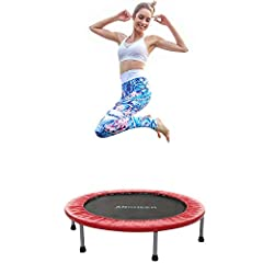 Exercise your playfully at the same time to improve your endurance and coordination, balance and agility.  With this trampoline fitness you can burn it at home with no danger and up to 15 kcal per minutes. The trampoline is available in a var...