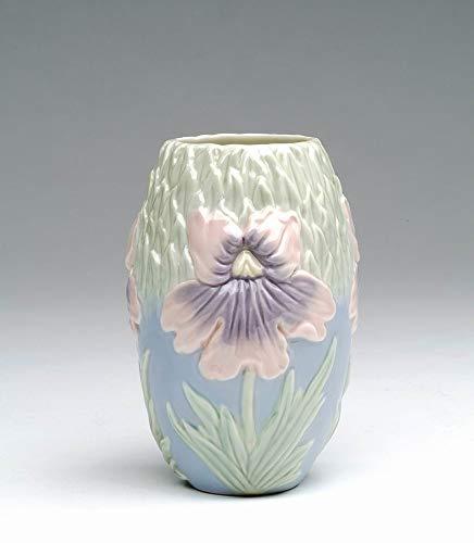 Cosmos Gifts Fine Porcelain Hand Painted Orchid Design Bud Vase, Makeup Brush Holder, Pen Holder, 4-5/8
