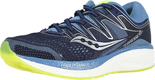 Saucony Women's Hurricane ISO 5 Running Shoe, Navy/Citron, 8 M US