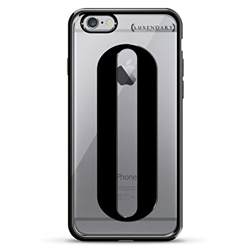 Luxendary Black Initial O3 Design Chrome Series Case for iPhone 6/6S - Titanium Black