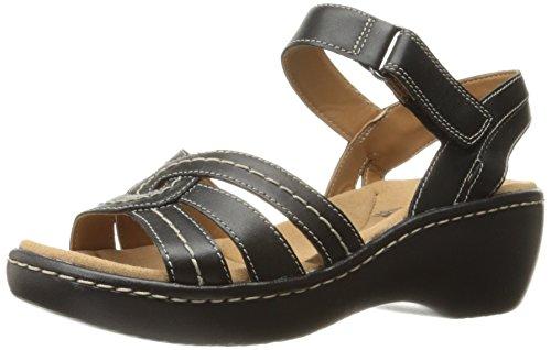 Varro Clarks Women's Black Sandal Dress Leather Delana EA4Aq