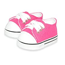 Dolls Shoes - Pink Sneakers Shoes Fits American Girl Doll, My Life Doll, Our Generation and other 18 inch Dolls