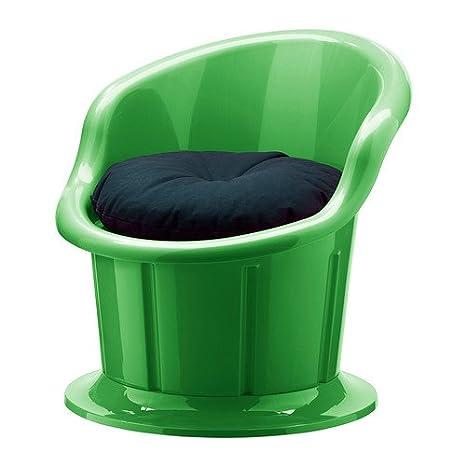 Ikea POPPTORP – Sessel mit Kissen, grün, schwarz: Amazon.de ...