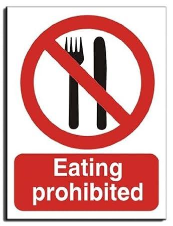 Comer Cartel de prohibido - vinilo - 200 x 250 mm (pr-034-ae ...