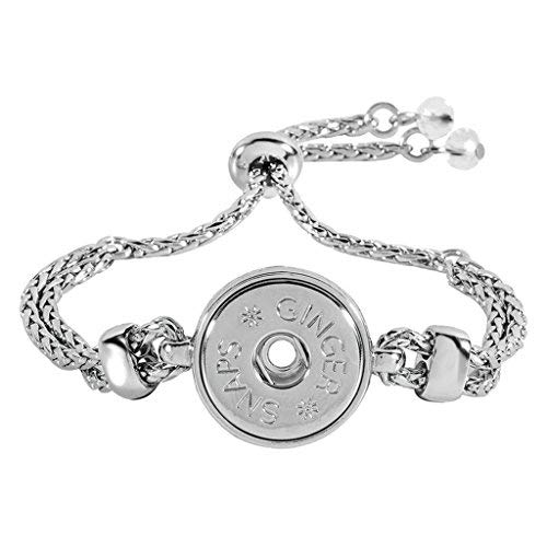 Ginger Snaps Rubber Stopper Adjustable Bracelet (Standard Size) SN95-53 Interchangeable ()