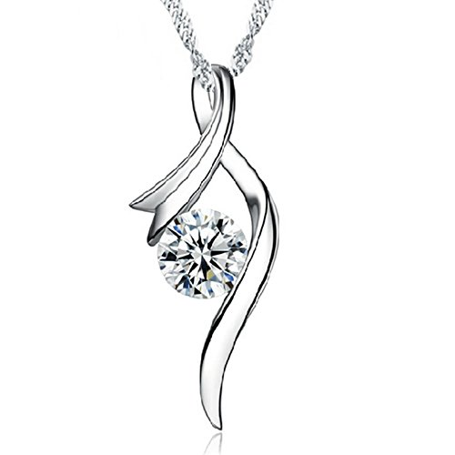 chain for ladies girl wife mother's day gift jewelry_ silver eye pendant cubic zirconia_ Crystal nice necklace_Necklace gift jewelry_ good 925 sterling silver necklace