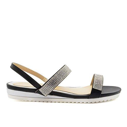 London Footwear - Sandalias mujer negro