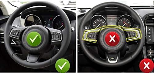 ABS Chrome Kunststoff Lenkrad Dekoration Rahmenverkleidung f/ür F-Pace F-Type XF XF XFL 2016 2017 2018 Kohlefaser-Stil EINWEG