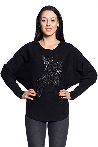 Beau Vintage CG010 Femmes Abbino Automne Plusieurs D Chaud Filles Pullovers Hiver Elegant Transition Feminin Branche Couleurs Flexible Oqwwf7