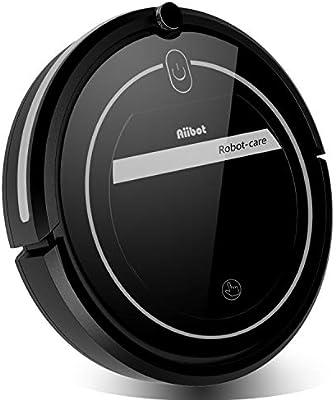 Aiibot Robot Aspirador Navegación Inteligente, Robot de Limpieza Fuerte Succión con Control Remoto, Sensor de Caída (negro-T289)