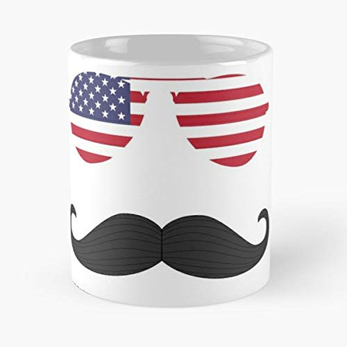 4Th Of July Fireworks Independence Day Fourth Mustache Stache Aviator Sunglasses - Best Independence Day Gift ()