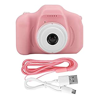 awstroe HD Camera, Children Camera, Digital Camera, Eye-Friendly DIY Photo Function Anti-Fall for Kid Children for Boys Girls(Pink)
