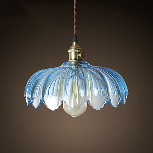Small Blue Glass Pendant Lights in US - 8