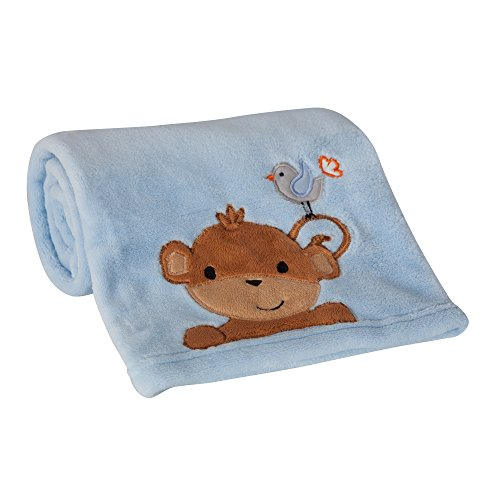 Lambs & Ivy Bedtime Blanket - Bedtime Originals Mod Monkey Blanket
