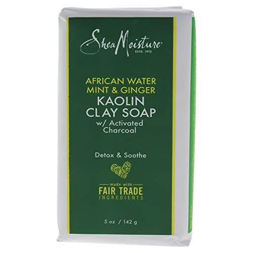 Shea Moisture African Water Mint and Ginger Kaolin Clay Soap By Shea Moisture for Unisex - 5 Oz Bar Soap, 5 Ounce