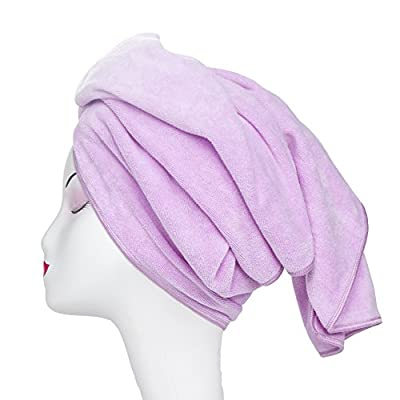 Microfiber Hair Towel Tancano 23.6''x47'' Anti Frizz Hair Wrap Super Absorbent Curly Hair Drying Towel Large Multifunction Towel for Bath Spa Makeup