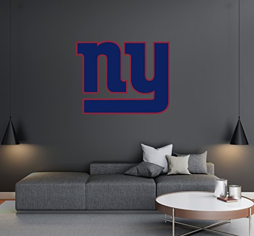 New York Giants - Football Team Logo - Wall Decal Removable & Reusable For Home Bedroom (Wide 20