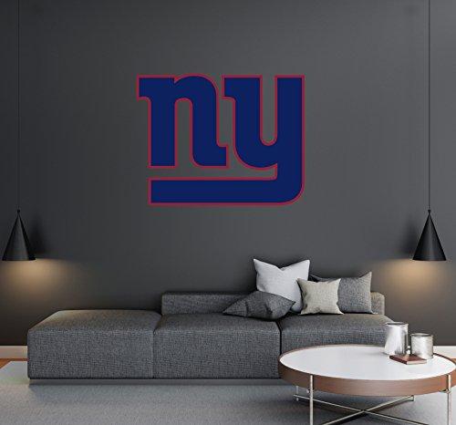 Team Logo Wall Decal - New York Giants - Football Team Logo - Wall Decal Removable & Reusable For Home Bedroom (Wide 30