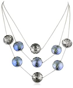 """Kenneth Cole New York """"Urban Stone"""" Faceted Bead Illusion Necklace"""