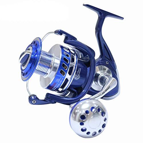 Fishar Spinning Reels 30KG 6000 7000 8000 9000 10000 Heavy Duty Sea Fishing Boat Fishing Jigging Fishing Reel Drag,Blue,MX5000 (Best Multiplier Reel For Boat Fishing)