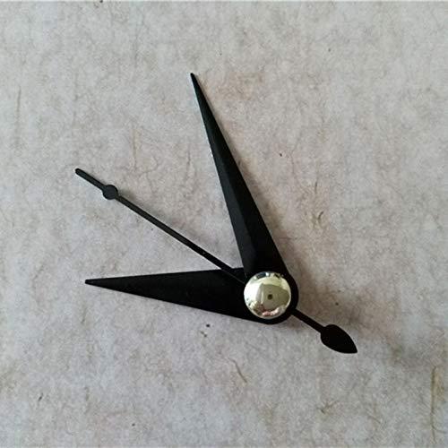 Maslin 100SETS Clock Quartz Black Metal Clock Arms DIY Repair Desk Clock Accessories